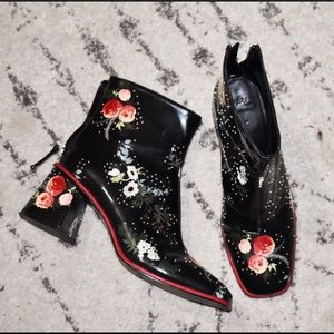 Zara Floral Hand-painted Boots